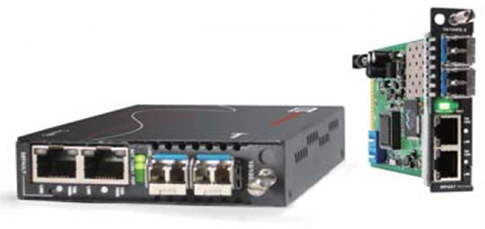 4‐Port OAM/IP Gigabit Ethernet In‐band Managed Converter /Switch
