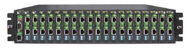 2U 20-slot E1/T1 Cross Rate Converter Rack