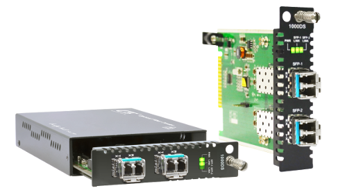 1000Base-X to 1000Base-X SFP media converter