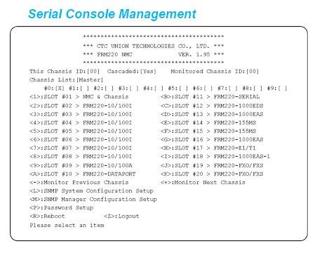FRM220-NMC Serial Console Management