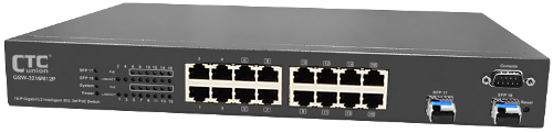 GSW-3216M12P 16 Port L2 Ethernet Managed PoE Switch